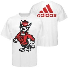 Buy adidas North Carolina State Wolfpack T-Shirt- White from the Official Store of NC State University. NC State University fans buy adidas North Carolina State Wolfpack T-Shirt- White. Nc State University, North Carolina State Wolfpack, 8 Bit, Pixel Art, Lego, Adidas, Gift Ideas, Awesome, Mens Tops