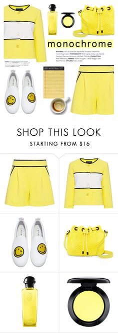 """""""One Color, Head to Toe"""" by ifchic ❤ liked on Polyvore featuring Joshua's, Poverty Flats, Hermès, MAC Cosmetics, Rifle Paper Co, monochrome, contestentry and ifchic"""