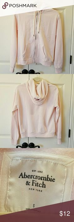 Abercrombie & Fitch Hoodie NWOT Super soft and cute!  Pale pink hoodie.  Zips on front.  Has drawstring on hood.  Bought and not worn.  No flaws. Abercrombie & Fitch Tops Sweatshirts & Hoodies