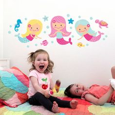 Mermaid Wall Stickers from notonthehighstreet.com