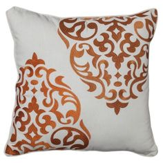 Mudhut™ Hope Medallion Decorative Pillow - Orange decorative pillow for couch