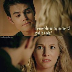 "#TVD 8x06 ""Detoured On Some Random Backwoods Path to Hell"" - Stefan and Caroline"