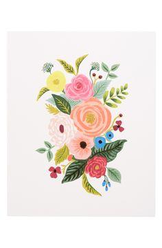 54 Ideas Wall Illustration Art Rifle Paper Co Art And Illustration, Floral Illustrations, Watercolor Flowers, Watercolor Art, Guache, Floral Wall Art, Vintage Wall Art, Rifle Paper Co, Rose Art