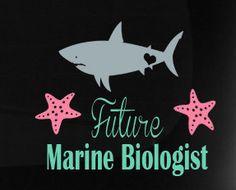 Future Marine Biologists Shark Vinyl Car by TheVinylDestination, $15.90