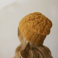 5f319ee773d A simple cable pattern for a super warm hat and mittens. Cable Knit Hat