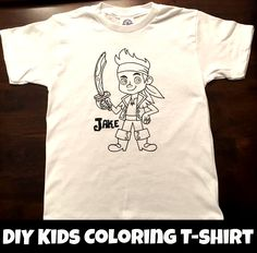 DIY Kids Coloring T-Shirts Made with Silhouette Machine
