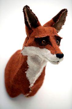 felt fox head