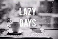 love lazy days with tea, a comfy outfit and a lot of candy :)