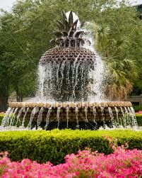Pineapple Fountain ~ Charleston. My favorite place to visit in between classes at the College of Charleston!