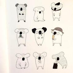 Cartoon Drawing Tips - Drawing On Demand Black And White Cartoon, Black And White Drawing, Pretty Drawings, Easy Drawings, Doodle Drawings, Drawing Painting Images, Koala Craft, Flower Doodles, Doodle Flowers