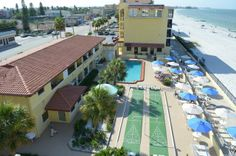 Nothing comes between you and the beach at the Adults only Shoreline Island Resort (Madeira Beach, FL) -  ResortsandLodges.com #travel #vacation #Florida