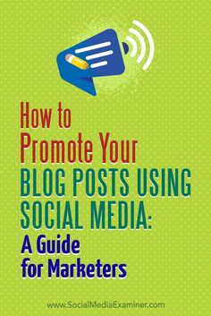 Properly sharing your blog posts via your social media channels will help deliver a steady stream of visitors to your blog.  In this article, youll discover how to successfully cross-promote your blog posts on top social media platforms.