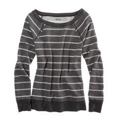 Aerie Sparkle Stripe Crew Neck Sweatshirt