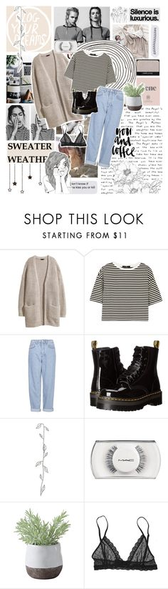 """""""[43]"""" by voidelle ❤ liked on Polyvore featuring Prada, NARS Cosmetics, Polaroid, H&M, TIBI, Boutique, Dr. Martens, MAC Cosmetics, Torre & Tagus and Eberjey"""