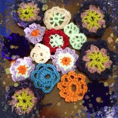 Some of my crochet flowers
