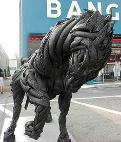 Used tire art | Oddity Central
