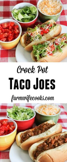 This recipe looks like a sloppy joe but has the flavor of a taco, hence the name Taco Joes. Are you looking to kick up Sloppy Joe night? These Crock Pot Taco Joes are an easy family friendly recipe that are perfect for busy nights. This recipe is perfect for feeding a crowd and makes a great freezer meal.