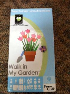 Provo Craft Cricut Walk In My Garden Cartridge Like New Crafts scrapbooking