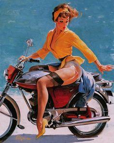 ♥ Biker Pin Up