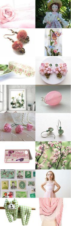 Pink and Green by Marlena Rakoczy on Etsy--Pinned+with+TreasuryPin.com