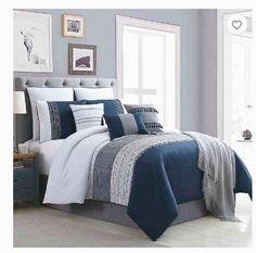 Hilden -piece tröster set. Stylish Bedroom, Modern Bedroom, Contemporary Bedroom, Stylish Beds, Modern Bedding, Minimalist Bedroom, Modern Contemporary, Casa Disney, Bedroom Color Schemes