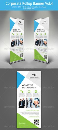 Corporate Rollup Banner  4 — Vector EPS #modern #corporate • Available here → https://graphicriver.net/item/corporate-rollup-banner-4/5437244?ref=pxcr