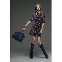 Fendi Floral-Printed Silk Dress (27.496.420 IDR) ❤ liked on Polyvore featuring dresses, flower print dress, colorful floral dress, botanical dress, multi color dress and flower pattern dress