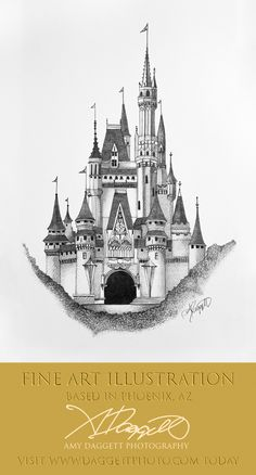 Fantasy castle, old english castle drawing, disney castle Disney Castle Drawing, Castle Sketch, Disney Castle Tattoo, Art Drawings Sketches, Disney Drawings, Pencil Art Drawings, Castle Illustration, Disney Illustration, Dibujos Tattoo