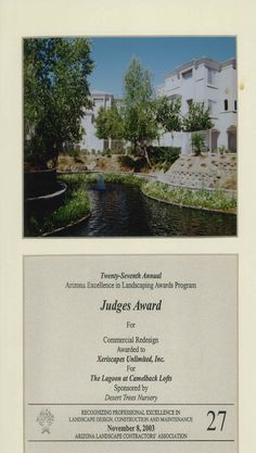 Judge's Award for Commercial Redesign, 2003