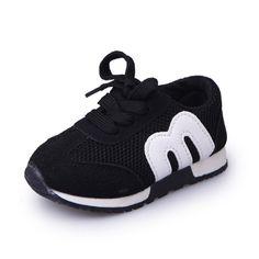0b74f4ff68d68 acquistare New Spring Bambini Sport Sneakers Bambini Lettera Morbido Scarpe  Da Corsa Traspirante Ragazzi Ragazze Mocassini