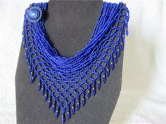 """Netted scarf schemas.  Note the tiny """"leaf"""" fringe  ~ Seed Bead Tutorials"""