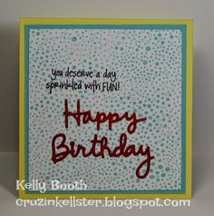Lovin The Life I Color: A Fun Card I made for CHA using one of my Favorite NEW Karen Burniston sets! outside; Jan 2015
