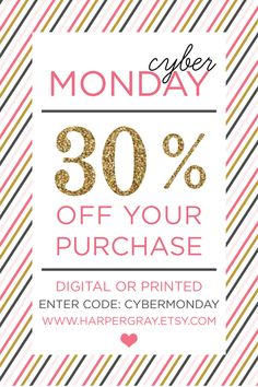 Cyber Monday 30% off Holiday Cards!
