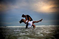 Adorable beach engagement photos!