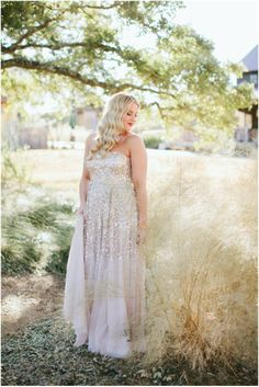 stunning sequin wedding dress