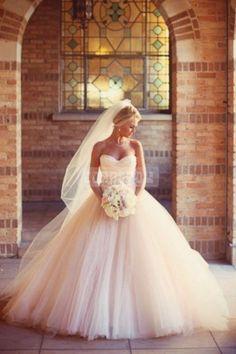 Ruching Princess Layers Tulle Beading Indoor Wedding Dress