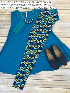 LuLaRoe Outfit Perfect Tee and Leggings. LuLaRoe Style. Flat Lay Photo. Spring Style.