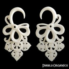 Gorgeous!  Love these dangly bone plugs!
