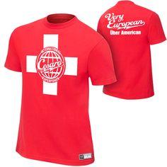 "Antonio Cesaro ""Very European, über American"" Authentic T-Shirt - #WWE"