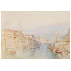 Venice, the Grand Canal, looking towards the Dogana, Joseph Mallord William Turner (1775-1851)