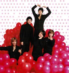 Come visit the biggest KPOP Fashion store in the world @ kpopcity.net !! DBSK in a pile of balloons!