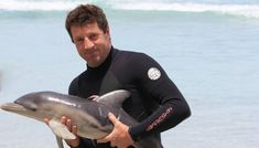 man saves stranded baby dolphin