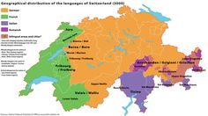 Switzerland has 4 national languages - German, French, Italian, and Romansch