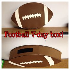 valentines day football box I made for my 6 year old son. Turned out great! He loves it!