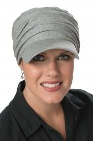 tenley baseball caps for women in grey heather - for cancer patients and hair loss
