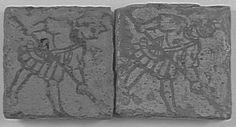 Carreaux de pavement : Serfs PÉRIODE 13e siècle SITE DE PRODUCTION France (origine)