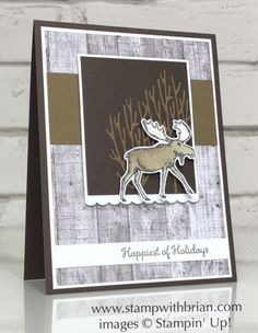 Winter Cards, Holiday Cards, Christmas Cards, Christmas Holiday, Homemade Christmas, Stampin Up Weihnachten, Christmas Moose, Stampin Up Christmas, Stamping Up Cards
