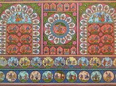 Pattachitra - A folk art style from Orissa, India where preparing the canvas ('patta') for painting is as much a labour of love as the painting itself.