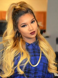 Full Lace Wigs|Lace Front Wigs|Lace Wigs @ RPGSHOW Hairstylist Anthony Blonde Ombre Hair - AnthonyCuts012 [AnthonyCuts012] - hair color: #2/#27A hair length: 20 inches