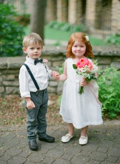 flower-girl + ring-bearer love